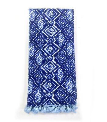 Indigo Mist Diamond Batik Towel