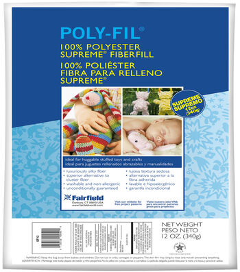 Poly-Fil Supreme Ultra Plush Fiber Fill 12 ounce Bag