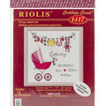 It\u0027s A Girl! Birth Record Counted Cross Stitch Kit 28 Count
