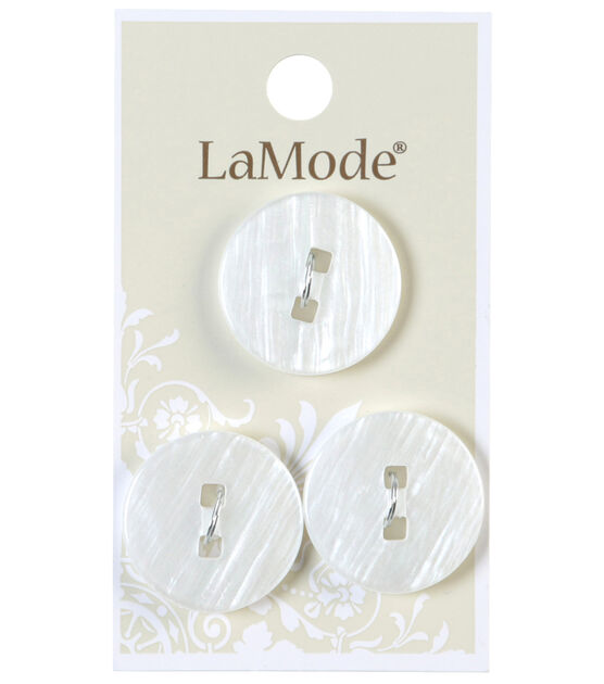 Lamode 2 Squared Hole White Buttons 22mm Joann