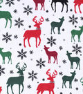 Snuggle Flannel Fabric -Multi Deer With Bow Tie