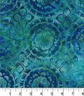 Legacy Studio Batik Cotton Fabric -Medallion Blue Green