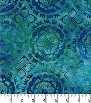 Legacy Studio Batik Cotton Fabric -Medallion Blue Green, , hi-res