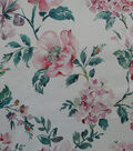 Sew Sweet Watercolor Satin Fabric -Pink
