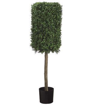 Rectangular Boxwood Topiary in Plastic Pot 50''