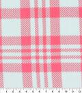 Blizzard Fleece Fabric-Luke Coral & Mint Plaid