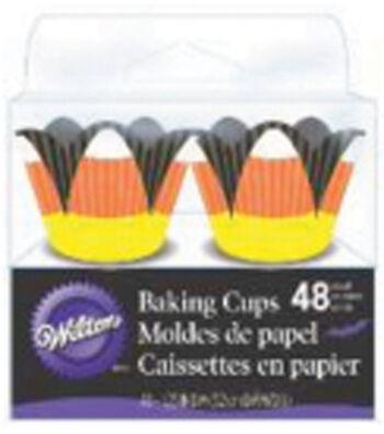 Fancy Mini Baking Cups-Candy Corn 48/Pkg