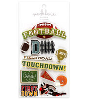Park Lane 11 pk 3D Stickers-Football & Touchdown, , hi-res
