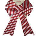 Handmade Holiday Christmas 9\u0027\u0027x16.25\u0027\u0027 Glitter Bow-Red & White Stripes