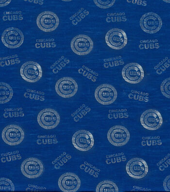 Chicago Cubs Knit Fabric -Foil Logo