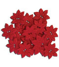 Favorite Findings Holiday Buttons-Pretty Poinsettia Red 14/Pkg