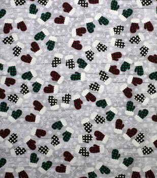 Super Snuggle Flannel Fabric-Buffalo Check Mittens