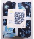No Sew Fleece Throw 48\u0022-Starry Night Owls