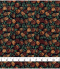 Christmas Cotton Fabric-Pinecones with Silver Glitter