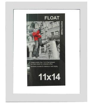 Wood Float Photo Frame 11''x14''-White