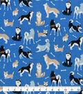 Snuggle Flannel Fabric-Watercolor Happy Dogs