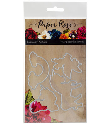 Paper Rose 4 pk Metal Dies-Unicorn Magic