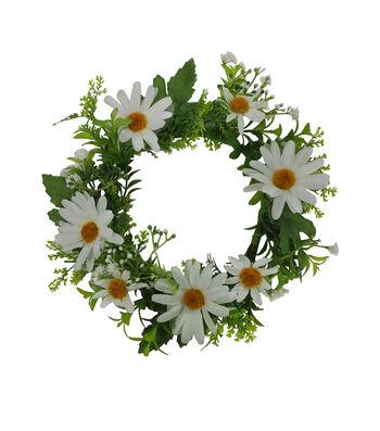 Fresh Picked Spring Daisy & Greenery Mini Wreath