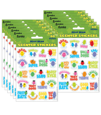 Jelly Beans Scented Stickers 12 Packs