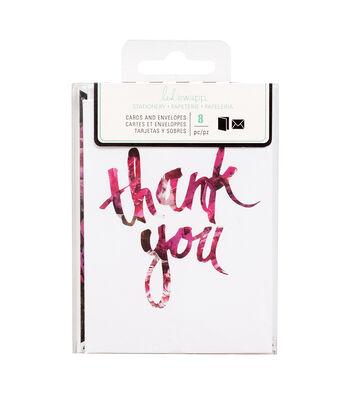 """Heidi Swapp Stationery 3""""x4""""-Thank You"""