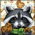 RTO Diamond Mosaic Embroidery Kit 25X25cm-Sweet Tooth Raccoon