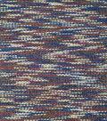 Boho Style Sherpa Backed Knit Fabric -Space Dye