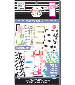 The Happy Planner Sticker Value Pack-Monthly Colorful Boxes