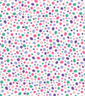 Quilter\u0027s Showcase Cotton Fabric -Pink & Purple Scatter Dots