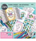 Sizzix Jen Long 8\u0027\u0027x8\u0027\u0027 Coloring Sendables Book-Mini Motivationals