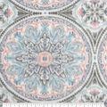 Anti-Pill Plush Fleece Fabric-Pastel Medallion