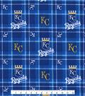 Kansas City Royals Flannel Fabric 42\u0022-Plaid