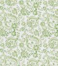 Keepsake Calico Cotton Fabric -Green Floral Scroll