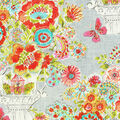 Dena Home Fabric 54\u0022-Flower Love Sherbert