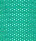 Snuggle Flannel Fabric-White Dots on Atlantis