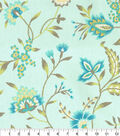 Waverly Upholstery Fabric 13x13\u0022 Swatch-Carolina Crewel Mist