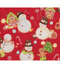 Christmas Cotton Fabric-Snowmen in Candy Land