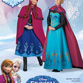 Simplicity Pattern 1210-Disney Frozen Costumes for Misses
