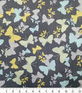 Quilter\u0027s Showcase Cotton Fabric-Butterflies Gray Teal