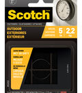 Scotch 12 pk Outdoor Fasteners-Black