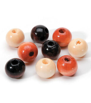 12mm Wood Bead Asst