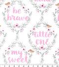 Nursery Flannel Fabric-Hazel Be Brave