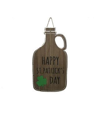 St. Patrick's Day Wood Bottle Cutout Wall Decor-Happy St. Patrick's Day