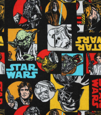 "Star Wars Flannel Fabric 42""-Badges"
