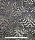 Fashion Brocade Fabric -Blackberry Wine Scallop