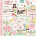 Echo Park Paper Company Bundle Of Joy Girl Cardstock Stickers Element