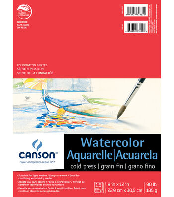Canson 15 Sheets 9''x12'' Foundation Series Watercolor Pad