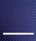 Cotton Shirting Fabric 57\u0027\u0027-White Dots on Navy