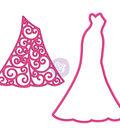 Prima Julie Nutting Metal Dies-Haute Couture 1 Dress & Overlay