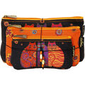 Laurel Burch Cosmetic Bag Set Of Three-Feline Friends