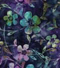 Legacy Studio Batik Cotton Fabric -Purple Blue Floral